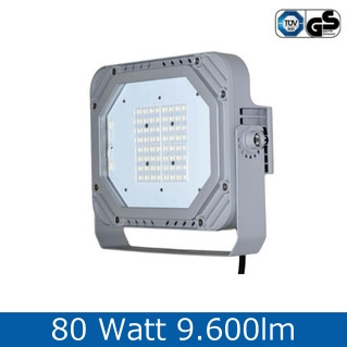 LED Fluter, 60W, 6.600lm, tageslichweiss, 6000K