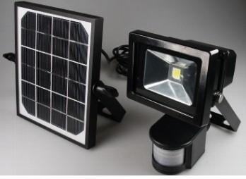 Led Solar Fluter 10watt Mit Akku Und Bewegungsmelder In 5000