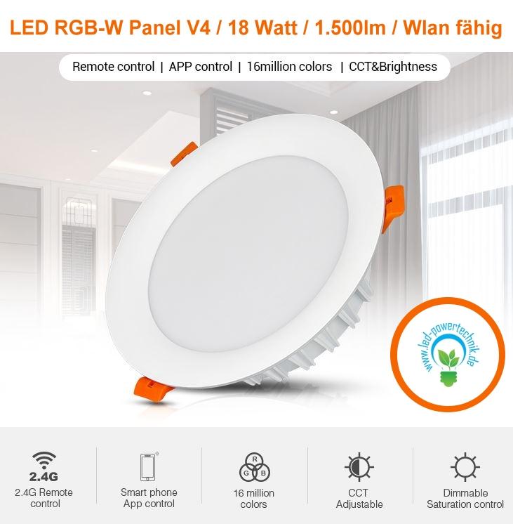Premium LED Panel Slim 62x62cm 4000K Deckenlampe Strahler 40W Weiß Color Serie