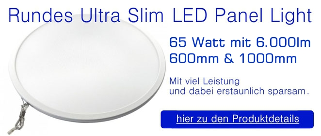 Rundes Ultra Slim LED Panel Light 60 Watt mit 5.000 Lumen - 580mm / Up & Down
