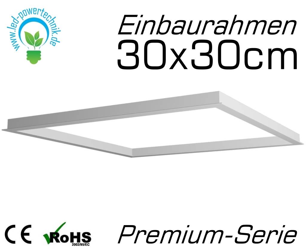 Color Serie Premium LED Panel Rahmen in 60x60cm Deckenbefestigung Rahmen Weiß