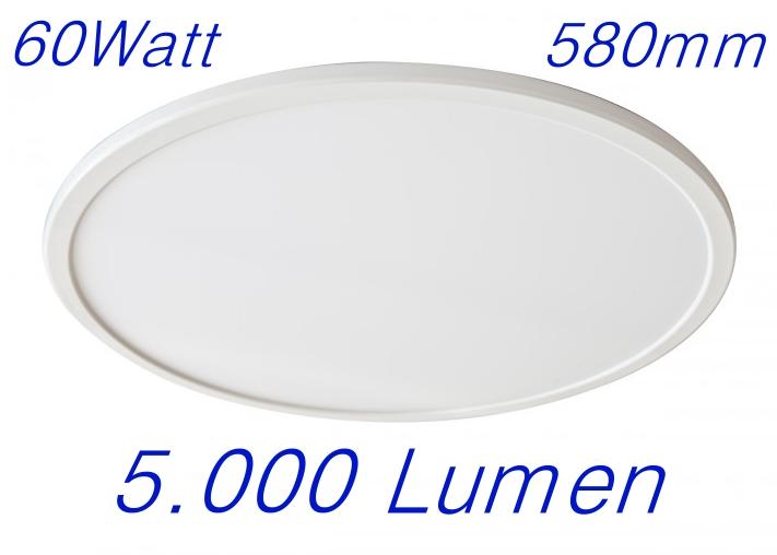 rundes ultra slim led panel light 60 watt mit lumen 600mm led lichtsysteme gro handel. Black Bedroom Furniture Sets. Home Design Ideas