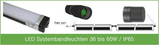 LED Systembandleuchte, Lichtband, 60 Watt