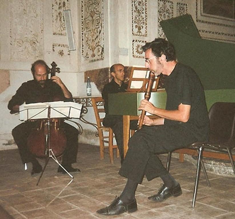 con Piero Cartosio (flauto) e Alessandro Palmeri (cello)