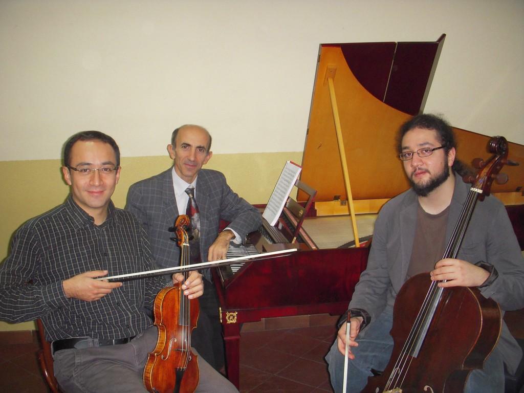 con Riccardo e Ludovico Minasi