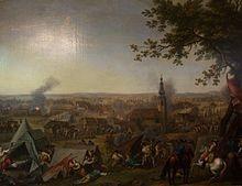 """Par Hyacinthe de La Pegna, """"La charge près de Hochkirch le 17 octobre 1758''"""