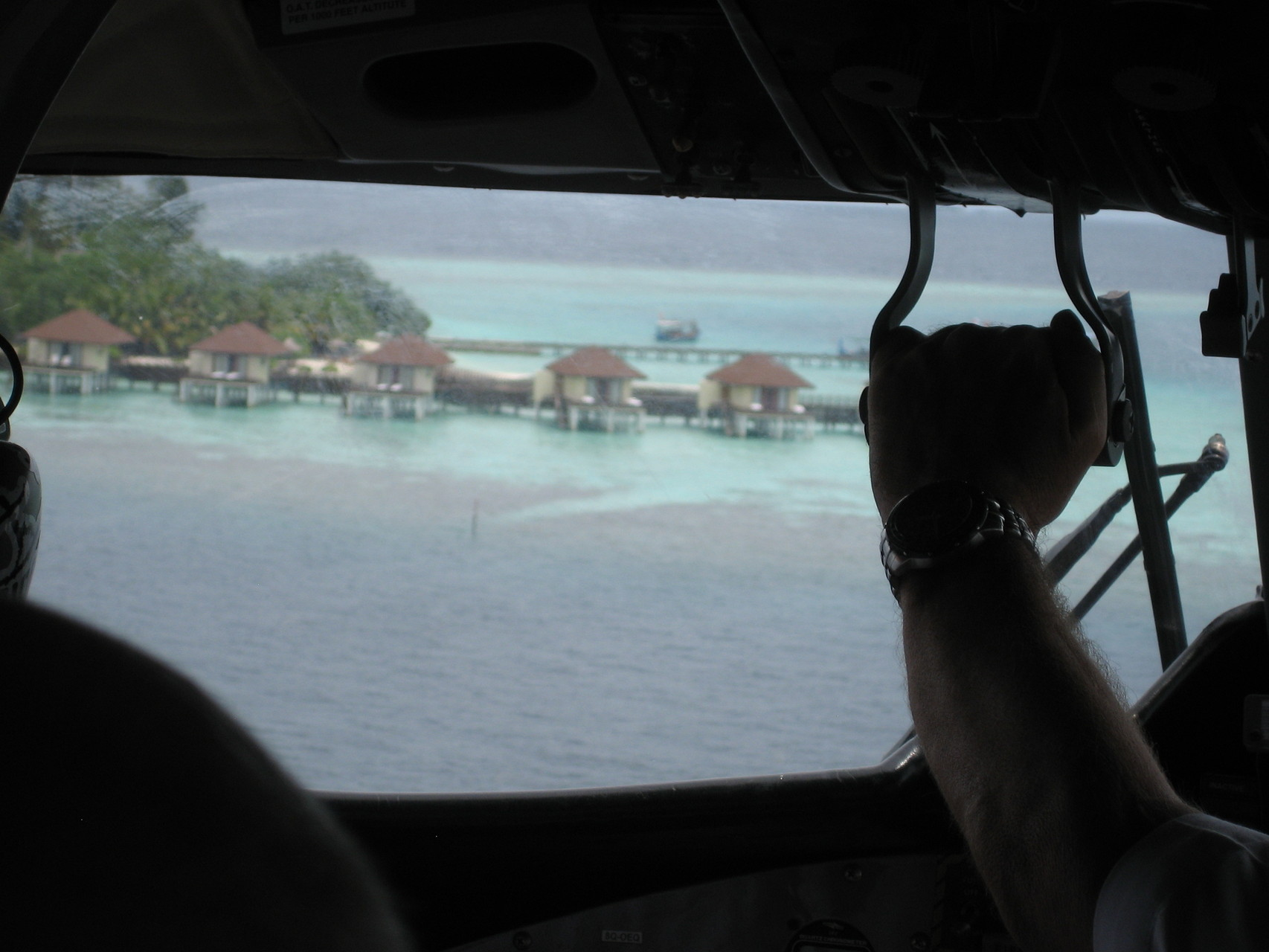Landeanflug im Wasserflugzeug