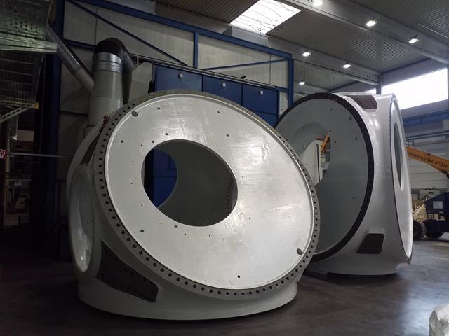 Großkomponenten aus Stahlguss für Offshore Windanlagen