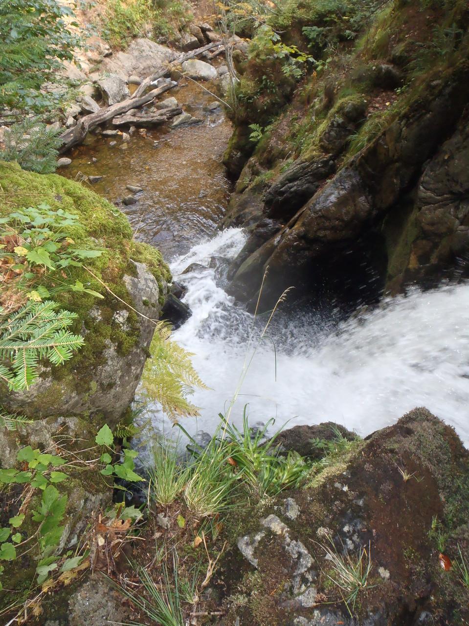 La cascade de Chorsin vue d'en haut