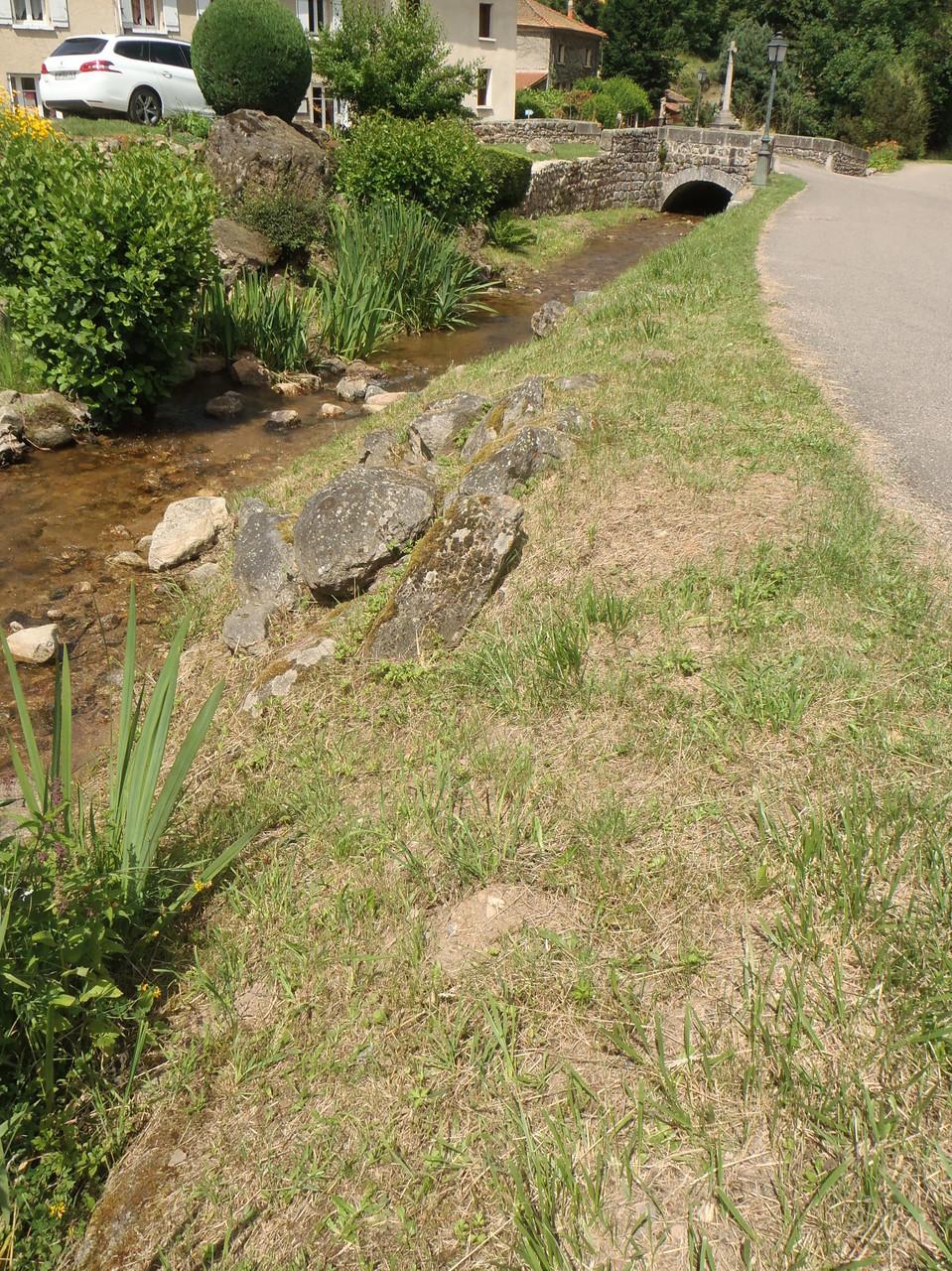 Vue sur le pont qui fait la limite aval de la réserve