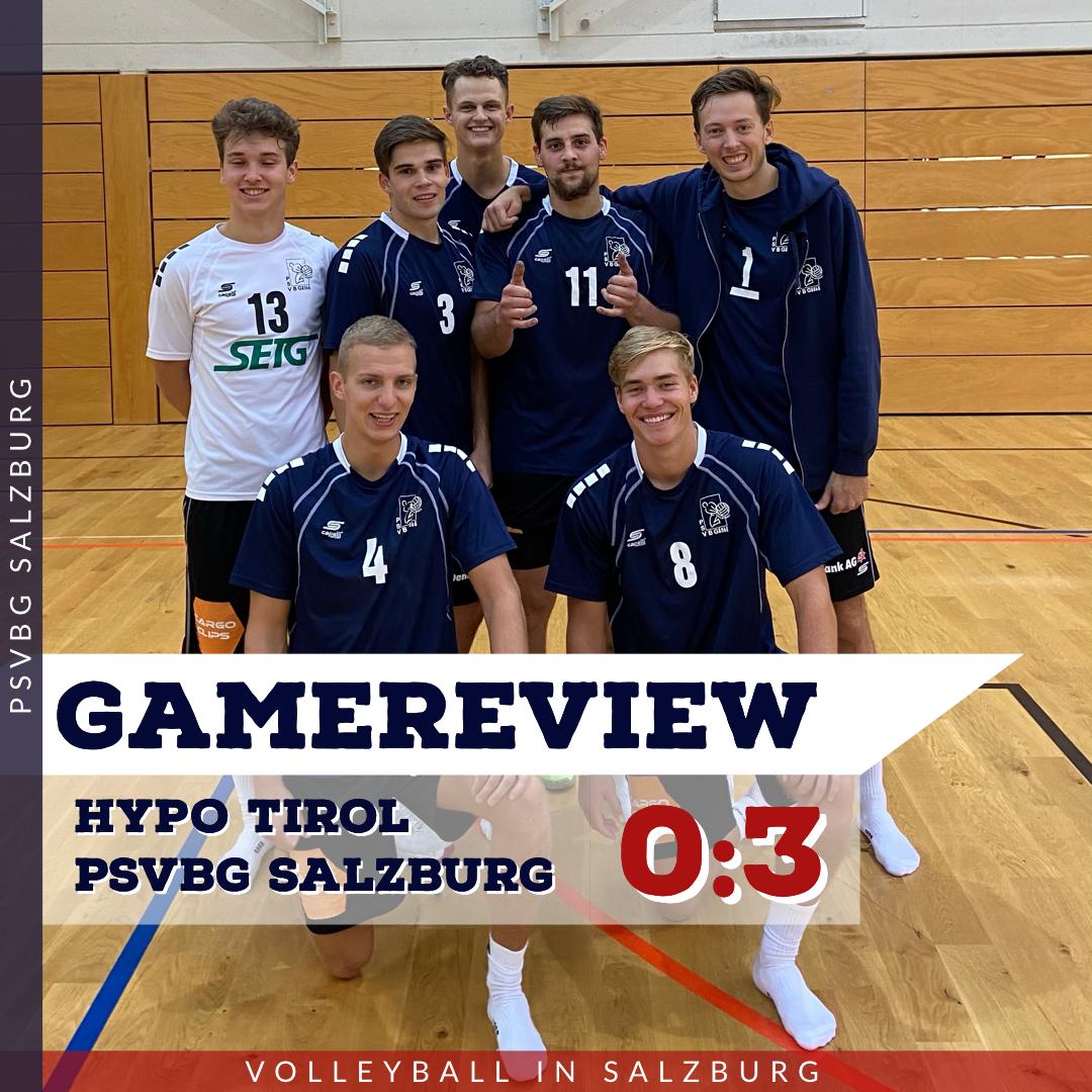Gamereview 2. Bundesliga Herren: Hypo Tirol - PSVBG Salzburg