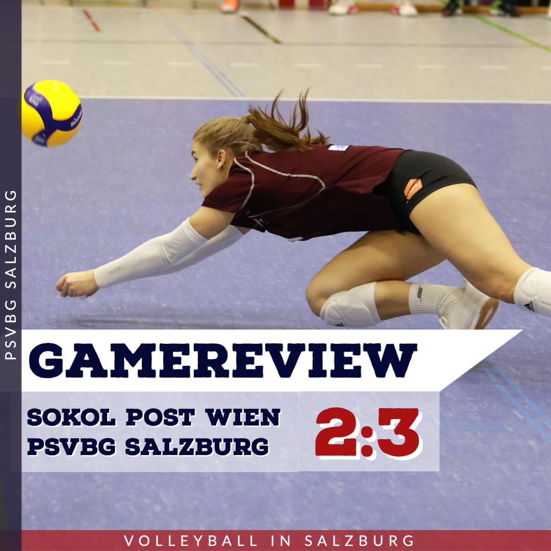 Gamereview 1. Bundesliga Damen: Sokol / Post Wien - PSVBG Salzburg
