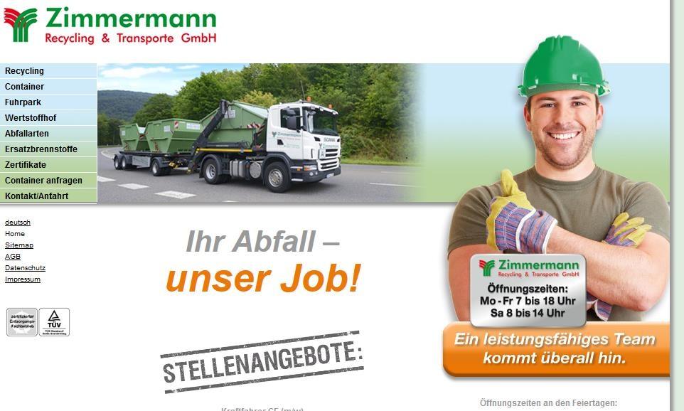 Zimmermann Recysling  Lahnstein´