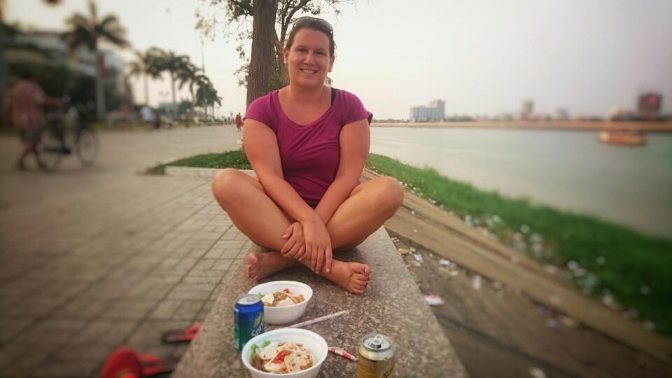 Phnom Penh - Essen am Mekong