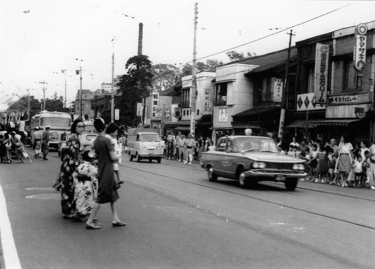 1967年 白金台二丁目町会、日吉坂町会の祭礼山車