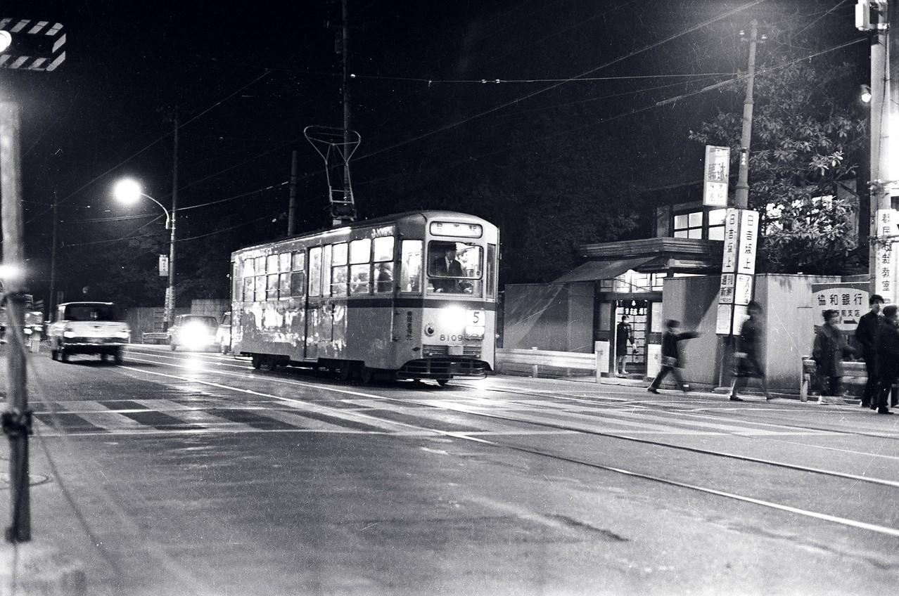 1967年 日吉坂上停留所(日吉湯前)