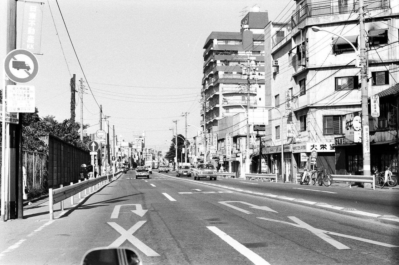 1973年 目黒通り(自然教育園前)