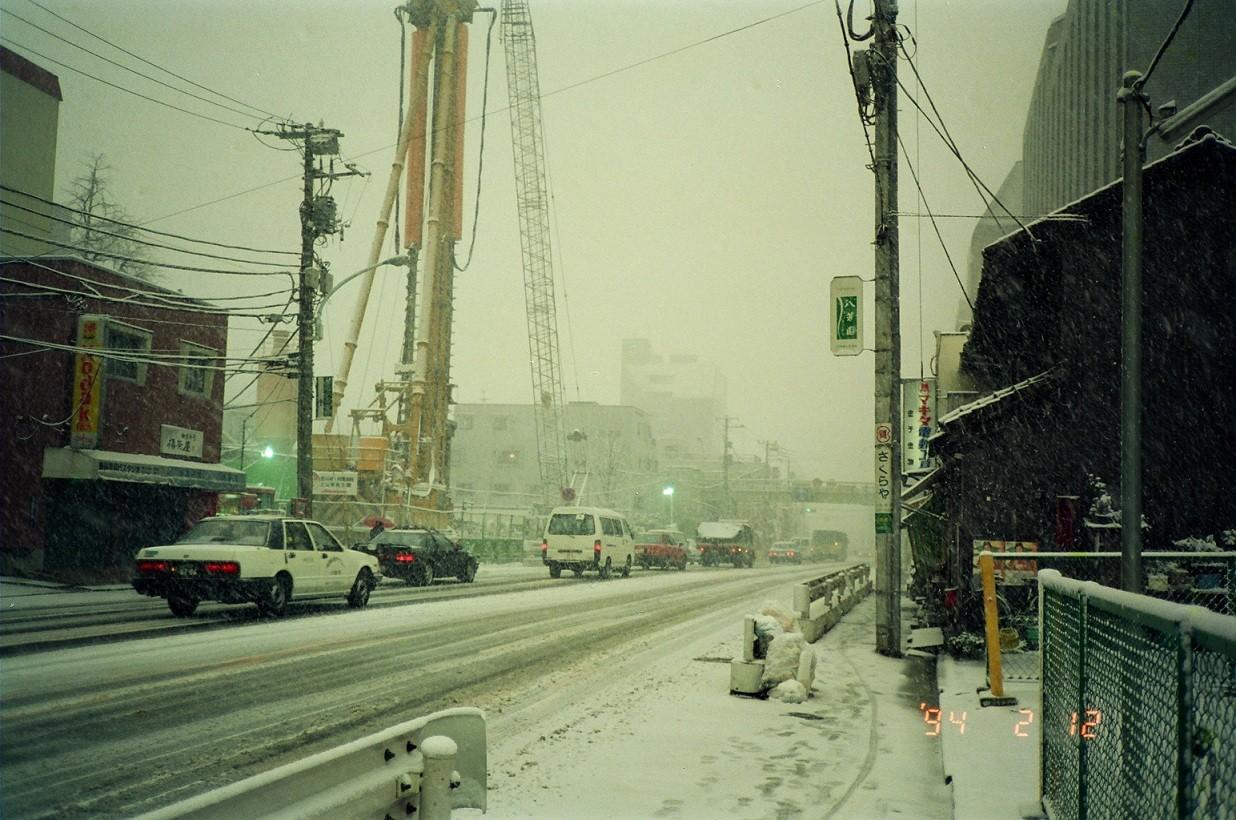 1994年 雪の日も地下鉄工事は続きます