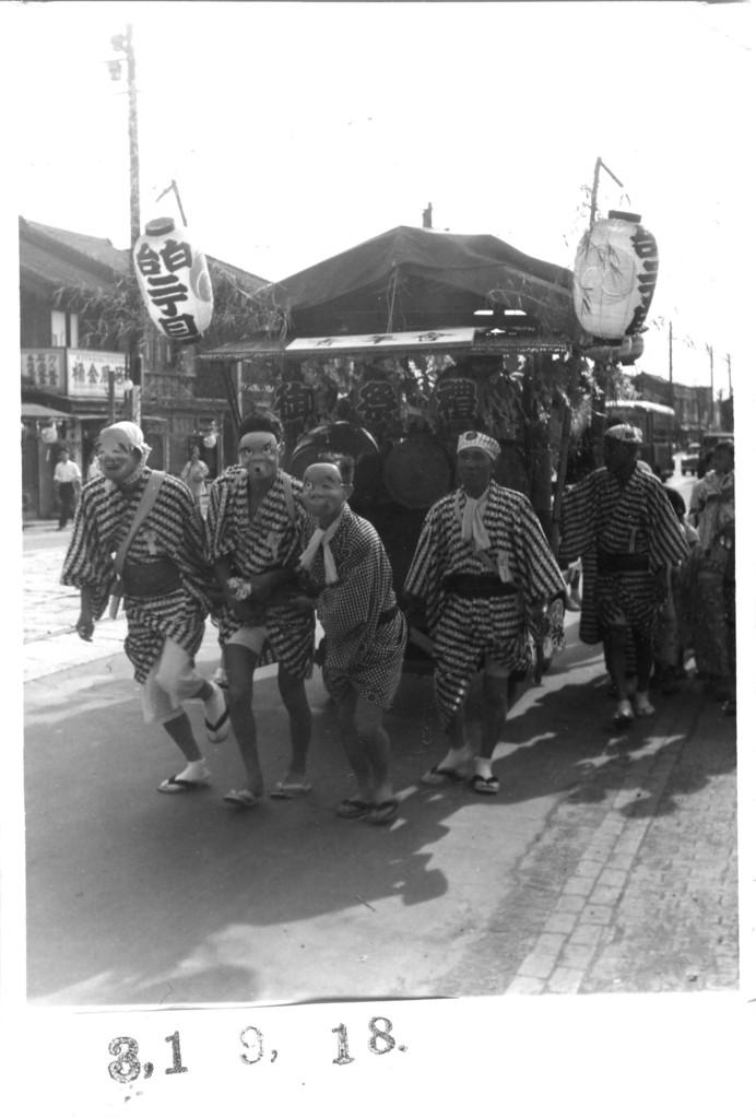 1956年 白金台町二丁目町会 お囃子の山車