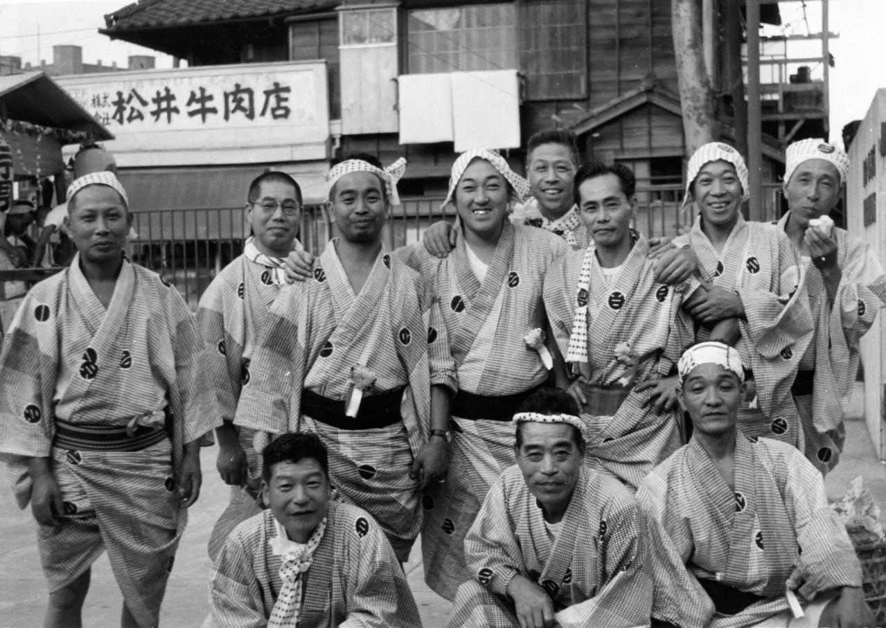 1960年 白金台二丁目町会 祭礼(電話局内)