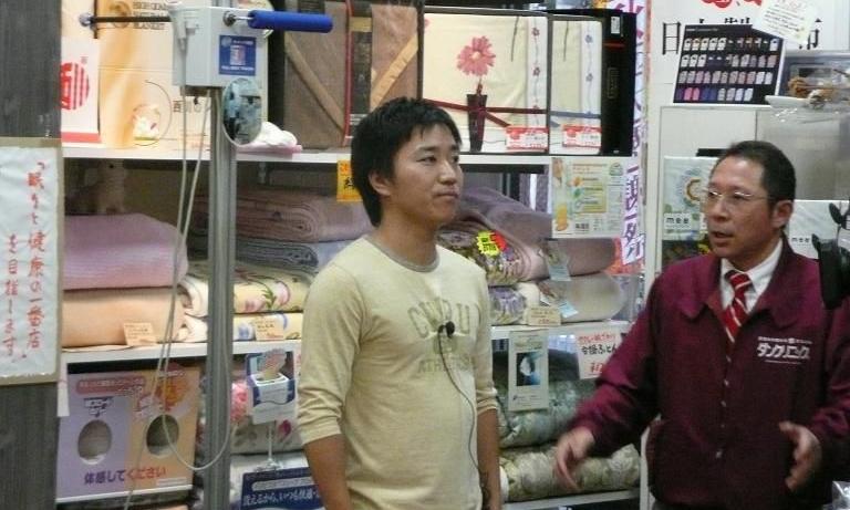 月亭八光さんも当店の測定器で。
