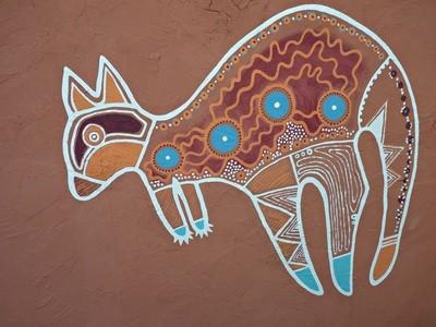 Känguruh Aborigines Kunst