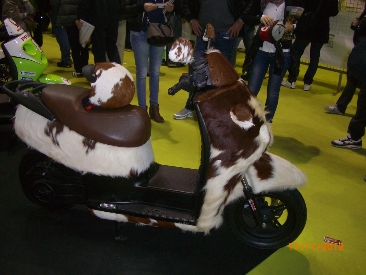 Uno scooter che ha investito una mucca