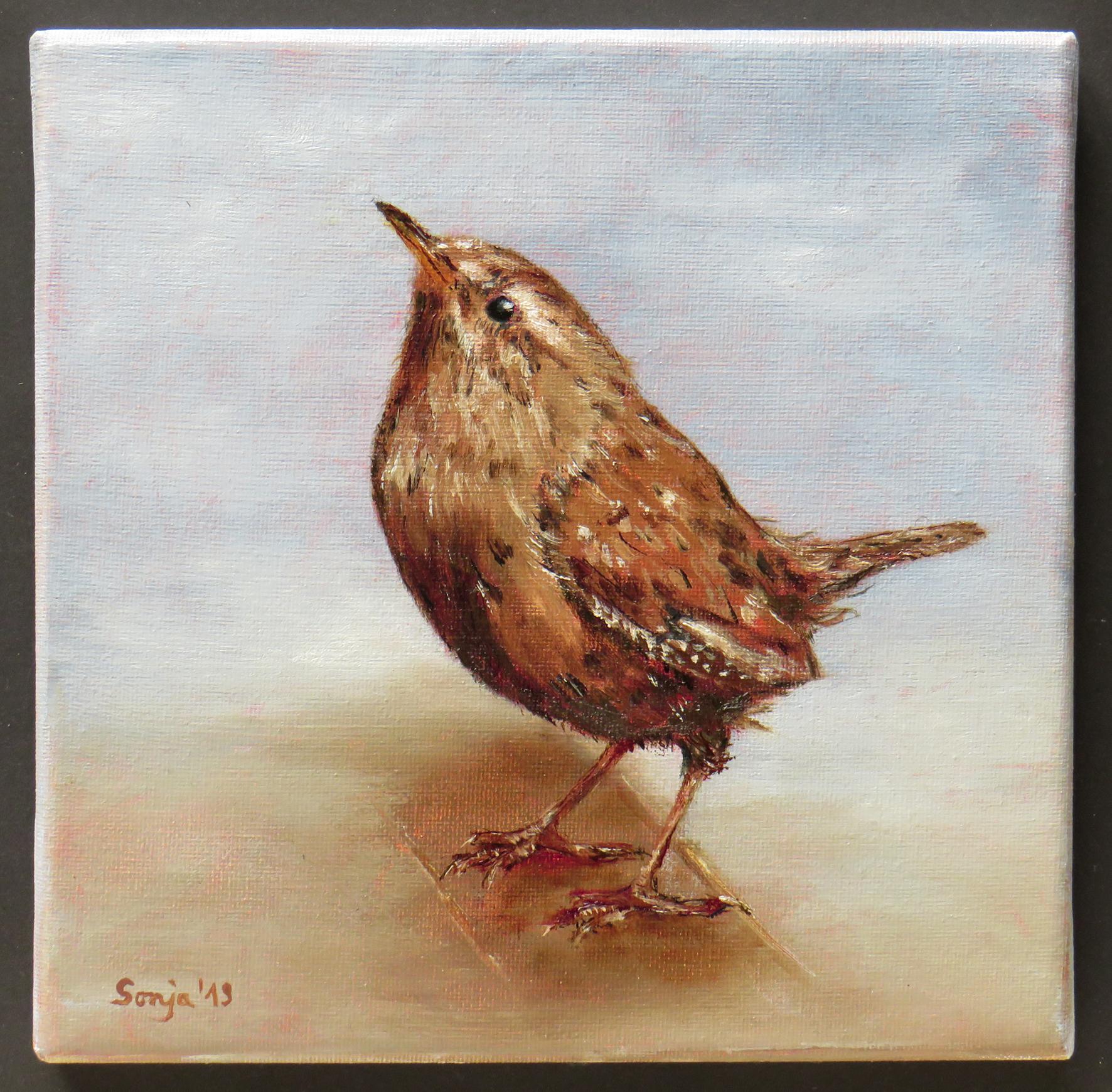 """""""Kleiner König"""", Öl auf Leinwand, 20 x 20 cm"""