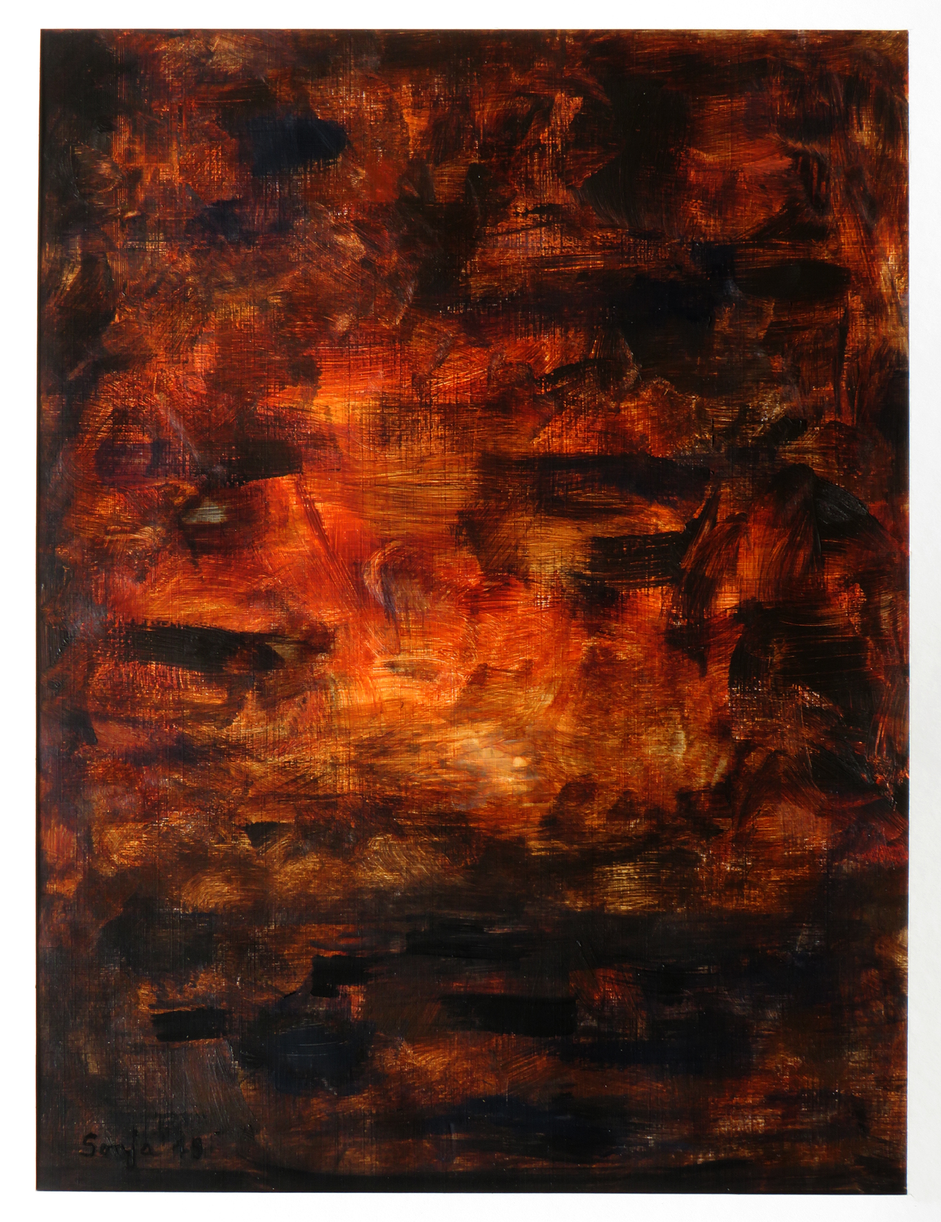 """Elemente-1"", Acryl auf Karton, 30 x 40 cm"