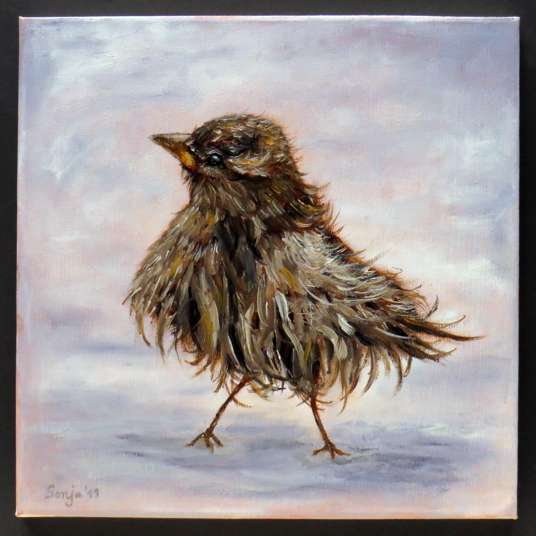 """Zausel"", Öl auf Leinwand, 30 x 30 cm"