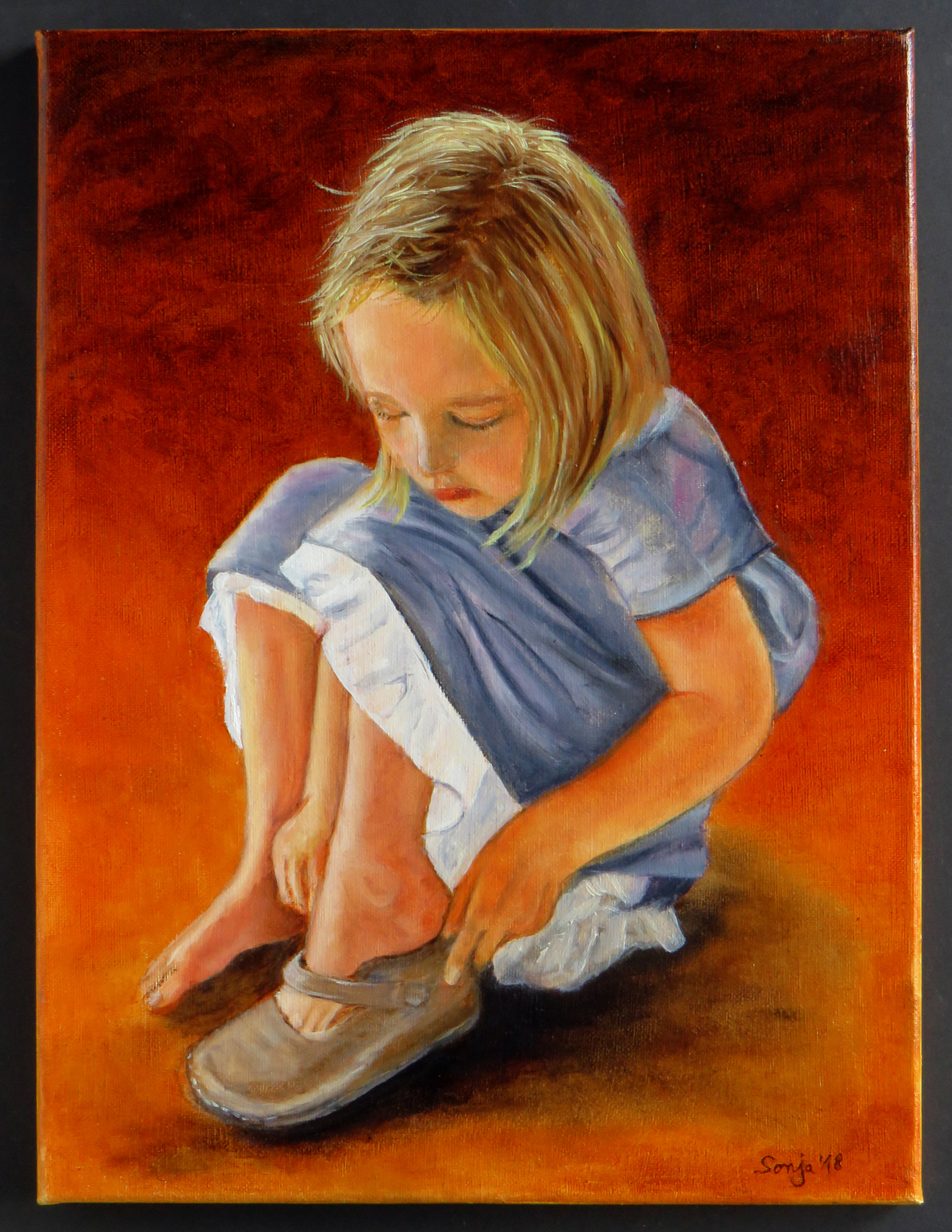 """""""Kleines Mädchen"""", Acryl auf Leinwand, 30 x 40 cm"""