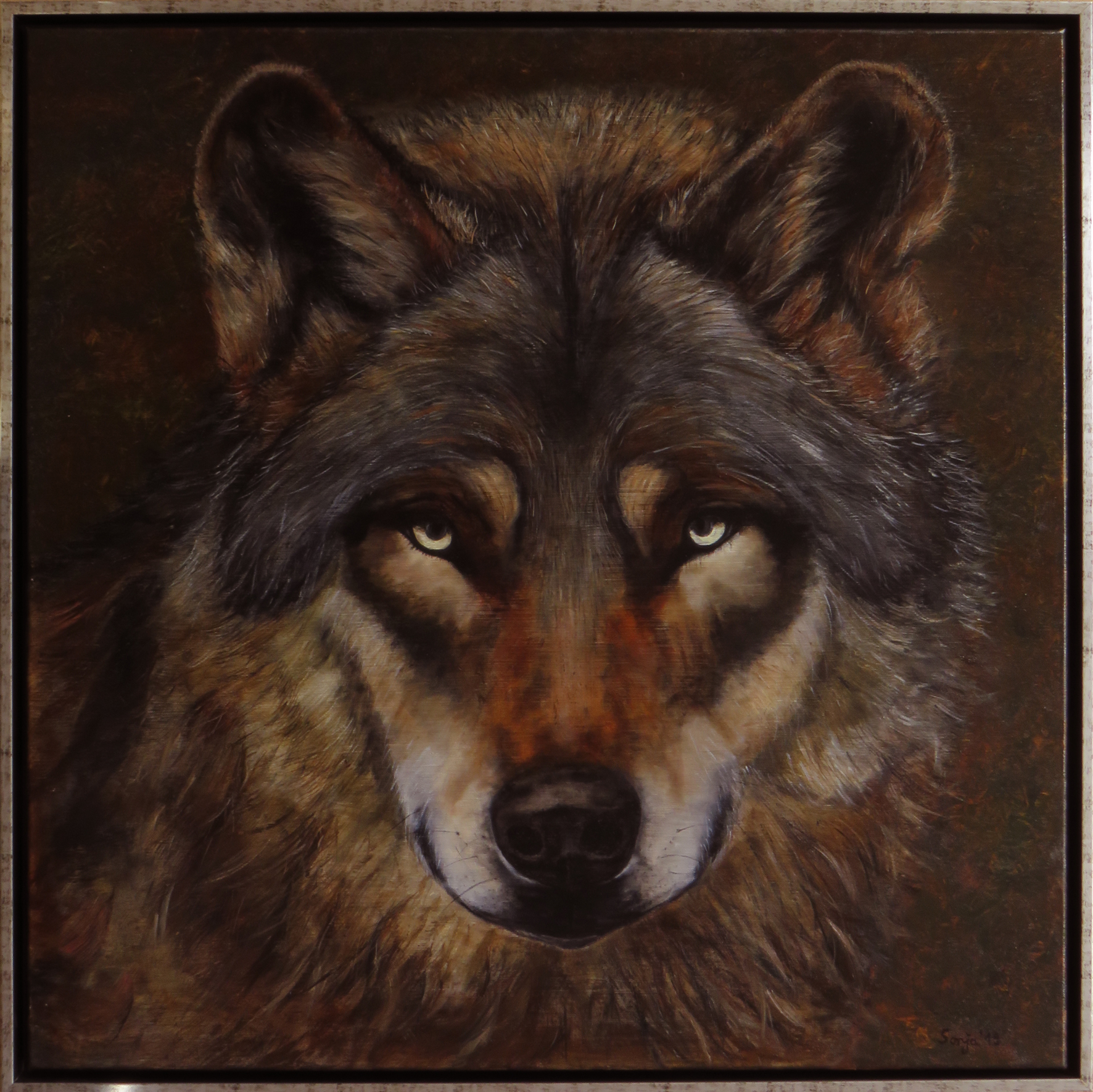 """""""Canis lupus"""", Öl auf Leinwand, 80 x 80 cm"""
