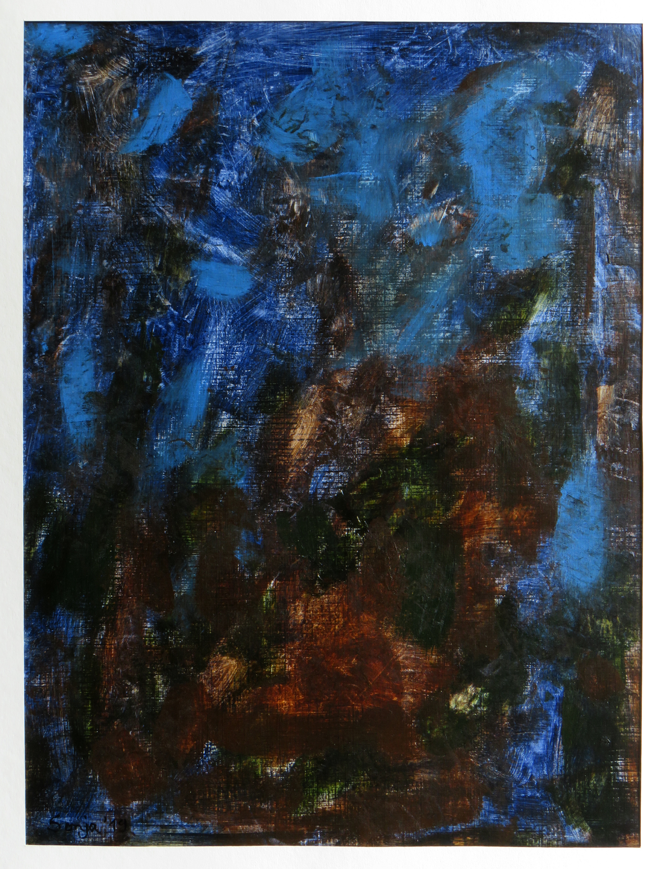 """""""Elemente-II, Acryl auf Malkarton, 30 x 40 cm"""