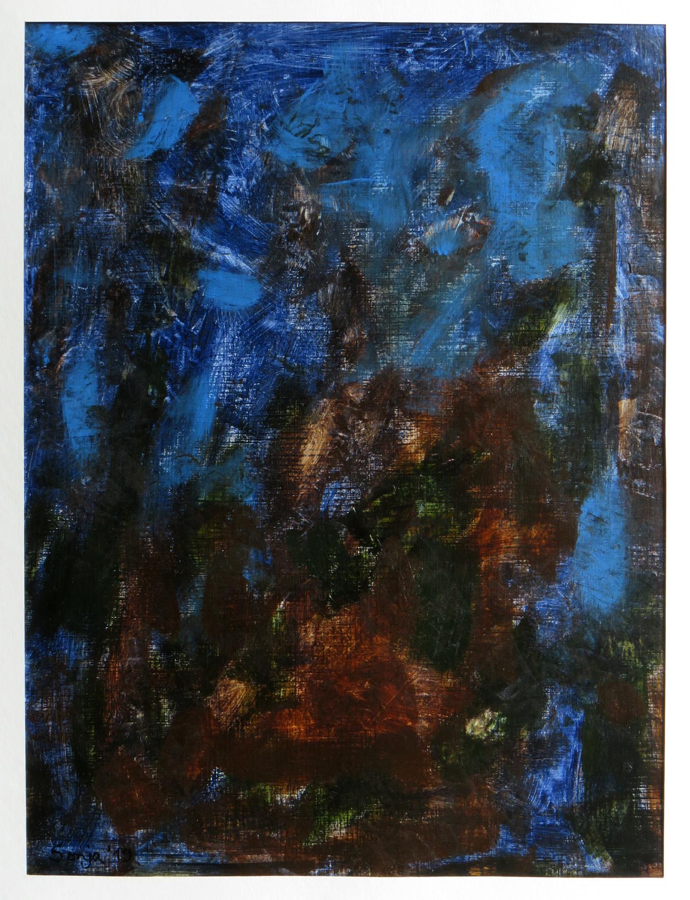 """Elemente-2"", Acryl auf Karton 30 x 40 cm"