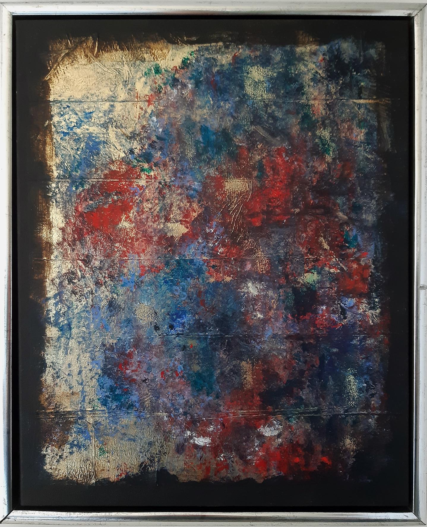 """""""Eruption"""", Acryl auf Leinwand und Goldfolie 40 x 50 cm"""