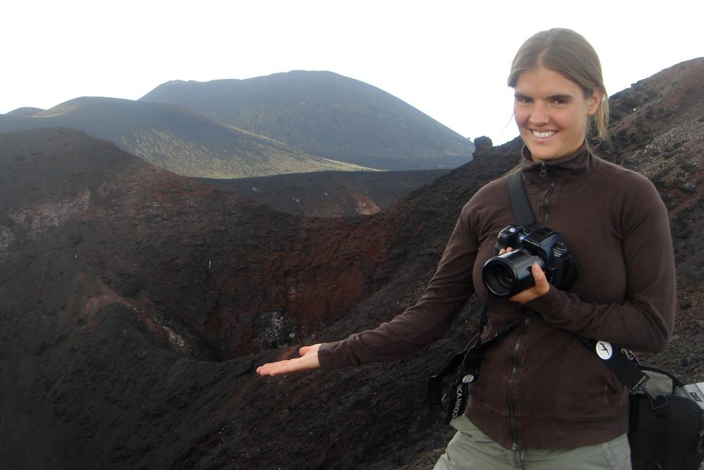 Nebenkrater des Ätna Vulkanes - Sizilien 2009