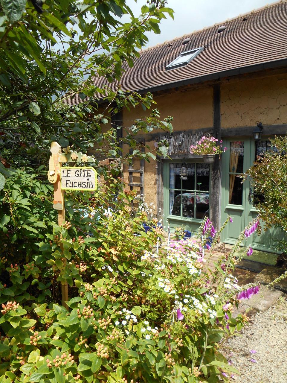 Le gite Fuchsia et sa terrasse