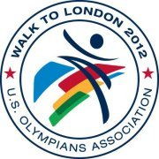 US Olympians Walk to London Logo
