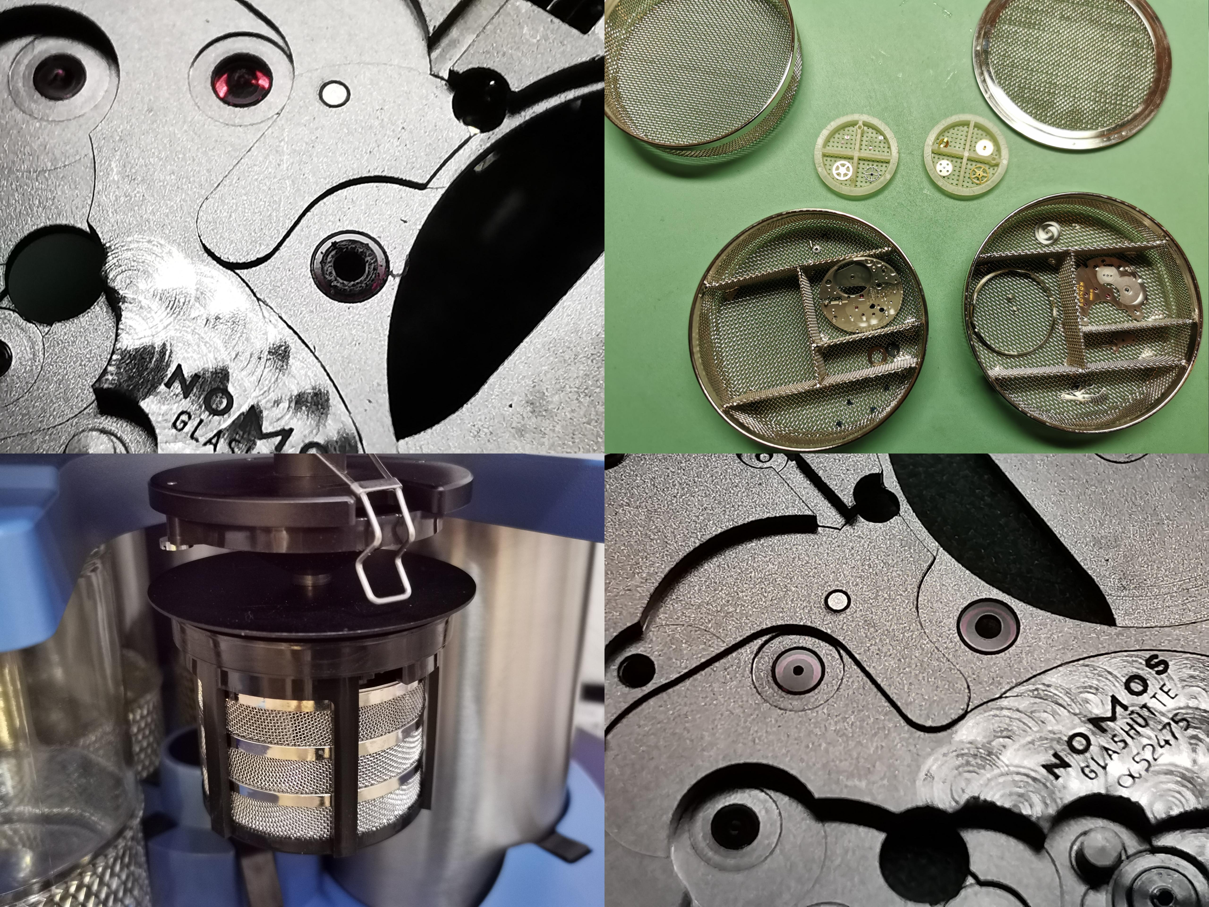 ACS 900 - Automatische Uhrwerkreinigungsmaschine mit integrierter Ultraschallstation. Stellt sicher, dass absolut keine alten Verunreinigungen nach der Reinigung zurückbleiben. Alte Rückstände können sonst erhöhten Verschleiß und Folgeschäden verursachen.