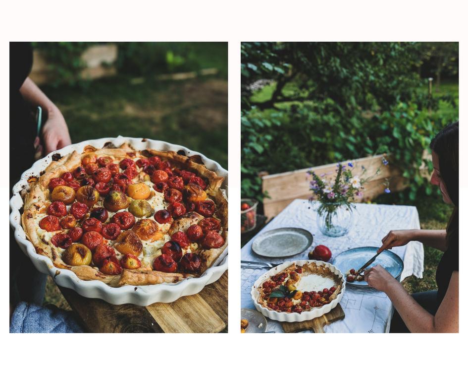 Tomatentarte Blätterteig