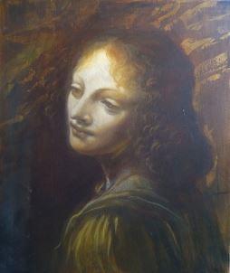 Copie d'Ange de Léonard de Vinci 46x55