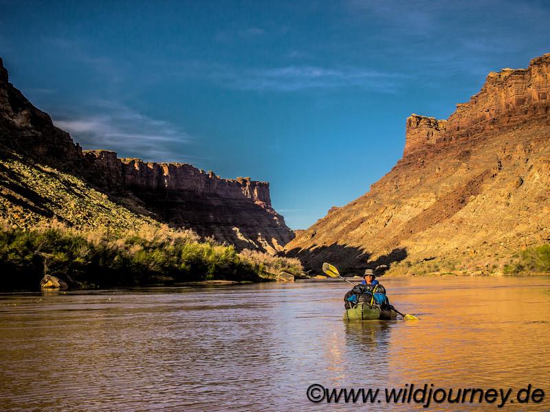 Packrafting the Green River, Utah