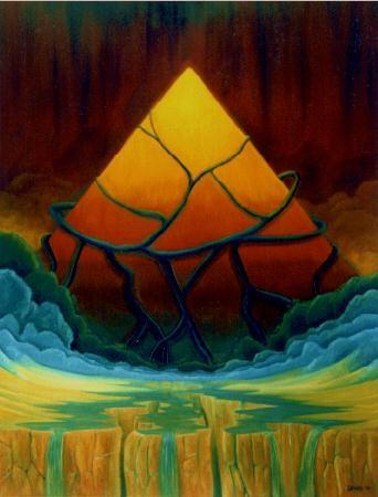 Tep Sepi (El tiempo primero) - Oleo 120x90 (2000) - Daniel Dankh