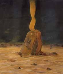 Hablando con el Cielo - Oleo 70x60 (2002) - Daniel Dankh