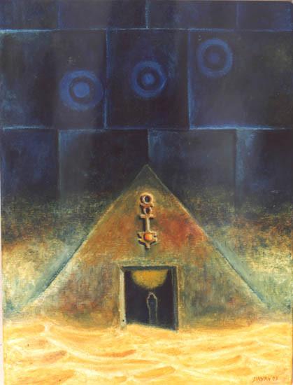 El misterio de Orion (Llave a las Estrellas) - Oleo 40x30 (2003) - Daniel Dankh