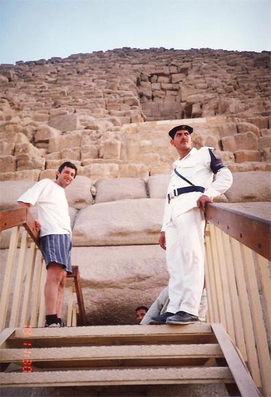 Entrada a la piramide de Micerino- Giza, El Cairo -Dankh