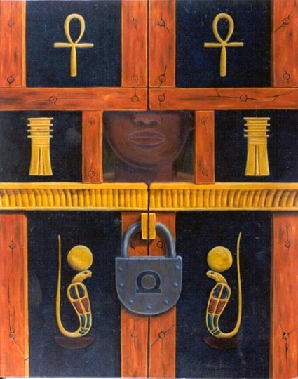 Puertas ocultas - Oleo 100x80 (2000) - Daniel Dankh