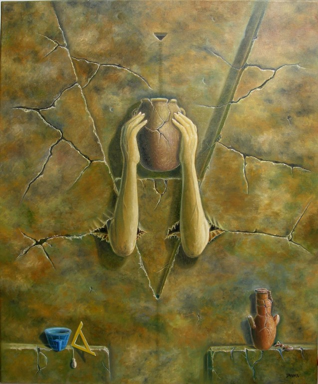 Ritual (Sumo Sacerdote) - Oleo 60x50 (2004) - Daniel Dankh
