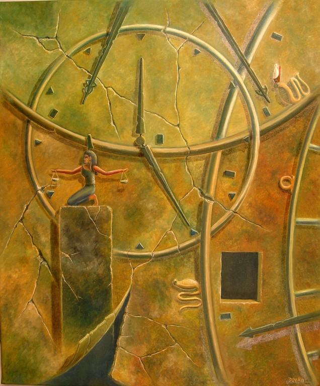 Maat, La ley Cosmica - Oleo 60x50 (2004) - Daniel Dankh