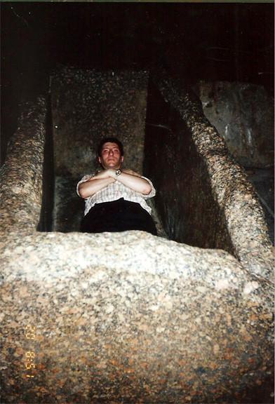 Sarcófago en la Gran Pirámide de Keops, Giza, El Cairo